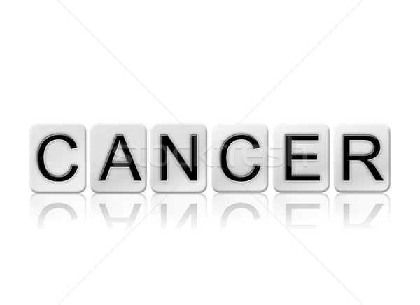 Cancer Isolated Tiled Letters Concept and Theme Stock photo © enterlinedesign