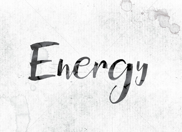 Energy Concept Painted in Ink Stock photo © enterlinedesign