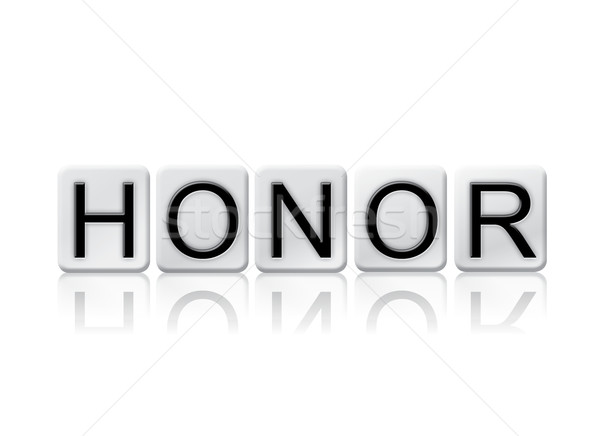 Honor Isolated Tiled Letters Concept and Theme Stock photo © enterlinedesign