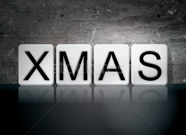Xmas Tiled Letters Concept and Theme Stock photo © enterlinedesign