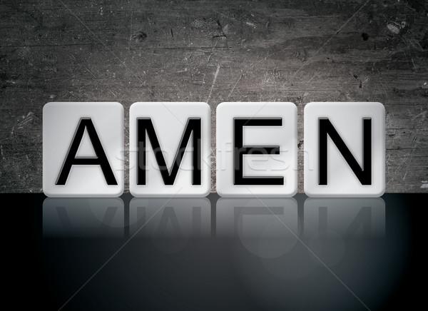 Stock photo: Amen Concept Tiled Word