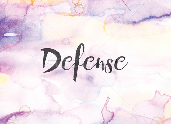 Defense Concept Watercolor and Ink Painting Stock photo © enterlinedesign