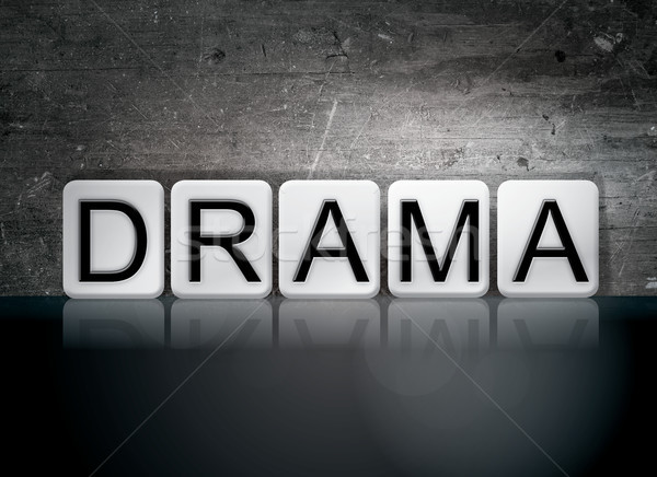 Drama Concept Tiled Word Stock photo © enterlinedesign