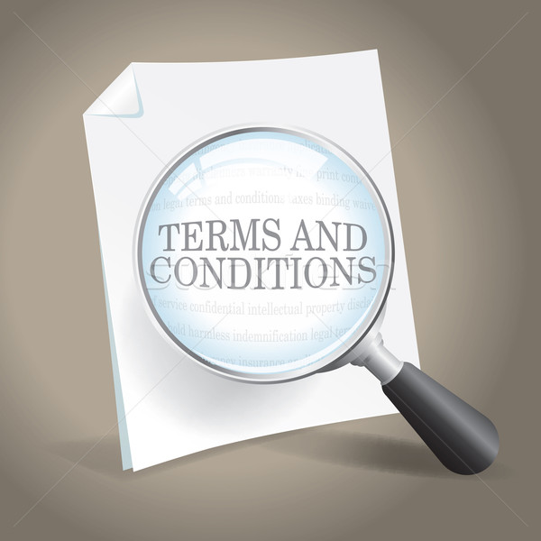 Terms and Conditions Examination Stock photo © enterlinedesign