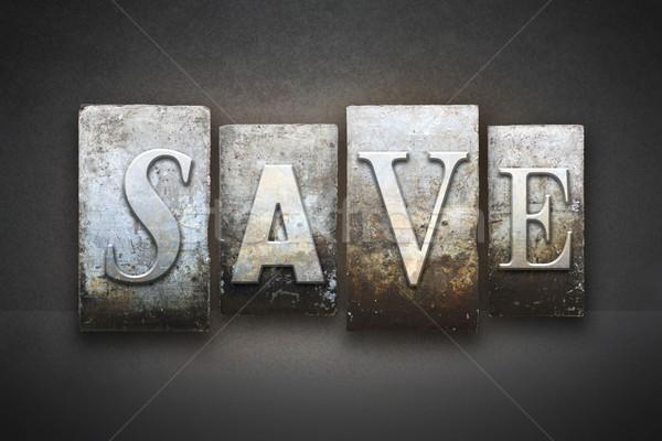 Save Letterpress Stock photo © enterlinedesign
