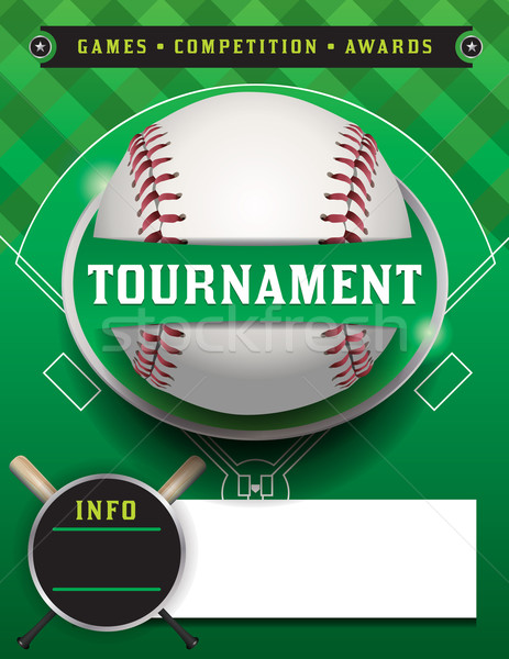 Baseball Tournament Template Illustration Stock photo © enterlinedesign