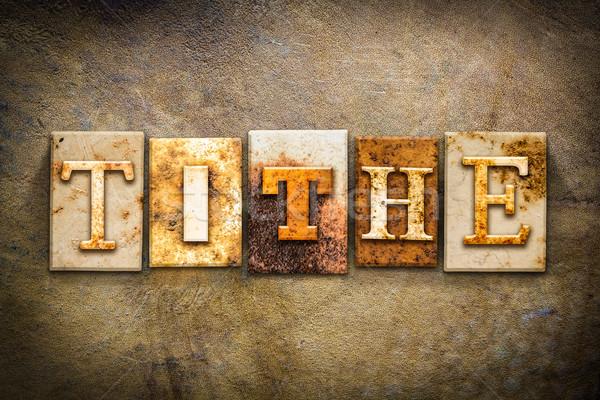 Tithe Concept Letterpress Leather Theme Stock photo © enterlinedesign