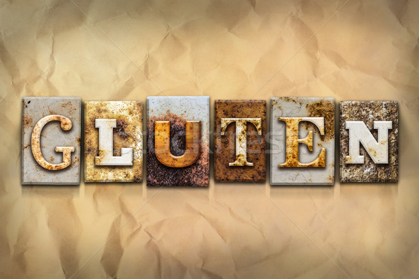 Gluten Concept Rusted Metal Type Stock photo © enterlinedesign