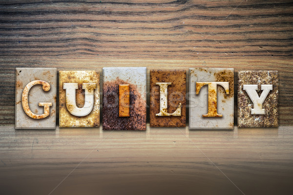 Guilty Concept Letterpress Theme Stock photo © enterlinedesign