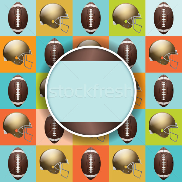 Vector Football Pattern Party Invitation Stock photo © enterlinedesign