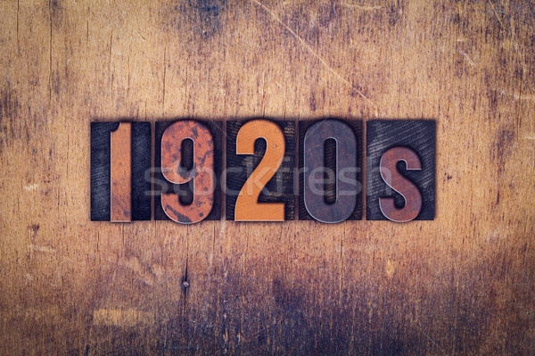 1920 bois type mot écrit Photo stock © enterlinedesign