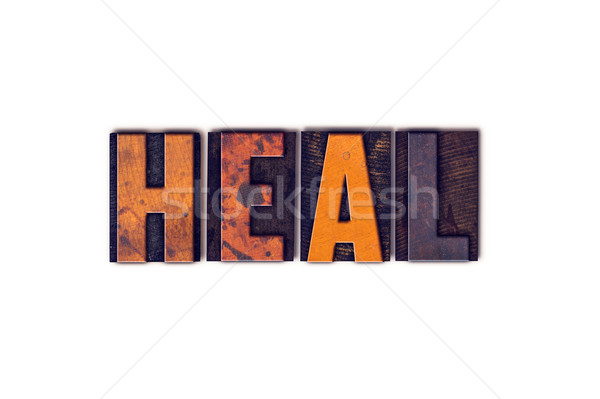 Heal Concept Isolated Letterpress Type Stock photo © enterlinedesign