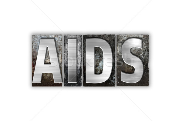 AIDS Concept Isolated Metal Letterpress Type Stock photo © enterlinedesign
