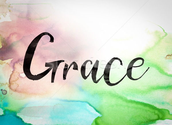 Grace Concept Watercolor Theme Stock photo © enterlinedesign