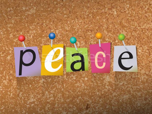 Vrede papier illustratie woord geschreven gesneden Stockfoto © enterlinedesign