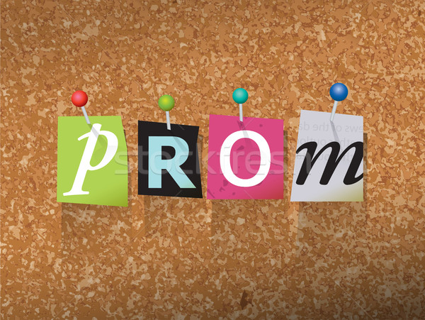 Prom Pinned Paper Concept Illustration Stock photo © enterlinedesign