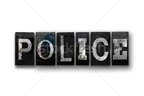 警察 孤立した タイプ 言葉 書かれた ストックフォト © enterlinedesign