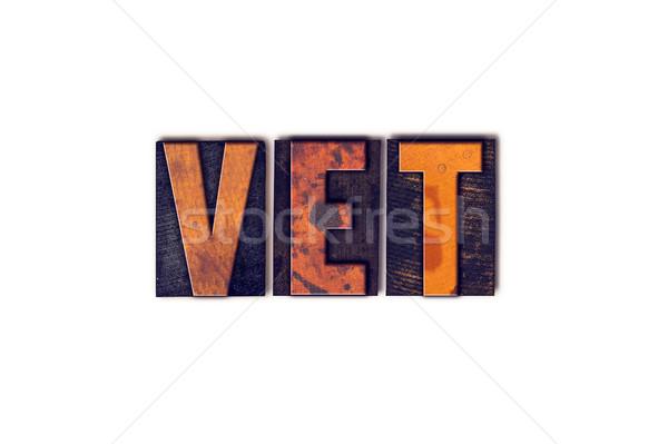 Vet Concept Isolated Letterpress Type Stock photo © enterlinedesign