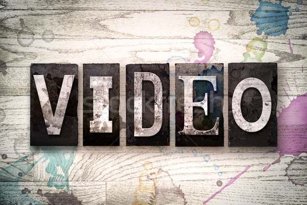 Video Concept Metal Letterpress Type Stock photo © enterlinedesign