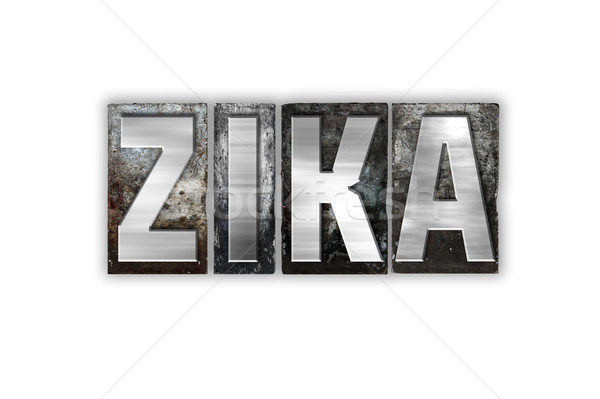 Zika Virus Concept Isolated Metal Letterpress Type Stock photo © enterlinedesign