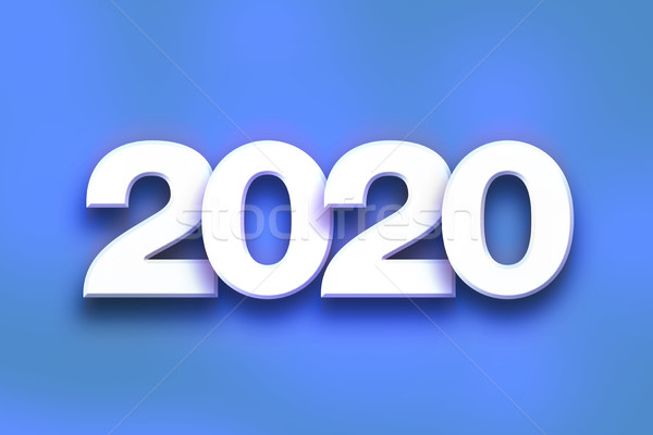 2020 Concept Colorful Word Art Stock photo © enterlinedesign