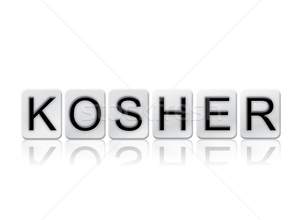 Kosher Isolated Tiled Letters Concept and Theme Stock photo © enterlinedesign