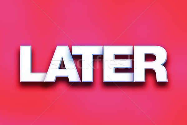 Színes szó művészet írott fehér 3D Stock fotó © enterlinedesign