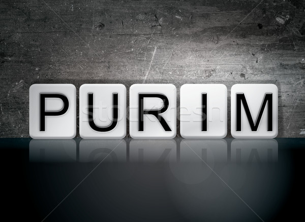 Purim Tiled Letters Concept and Theme Stock photo © enterlinedesign