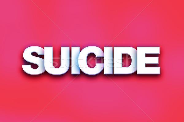 самоубийства красочный слово искусства написанный белый Сток-фото © enterlinedesign