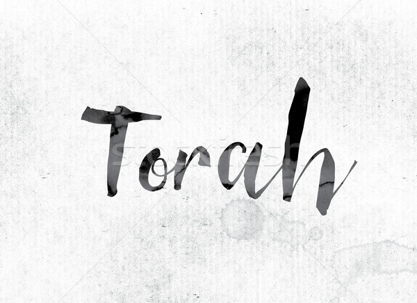 Torah Concept Painted in Ink Stock photo © enterlinedesign