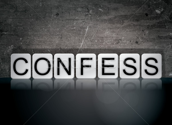 Confess Concept Tiled Word Stock photo © enterlinedesign
