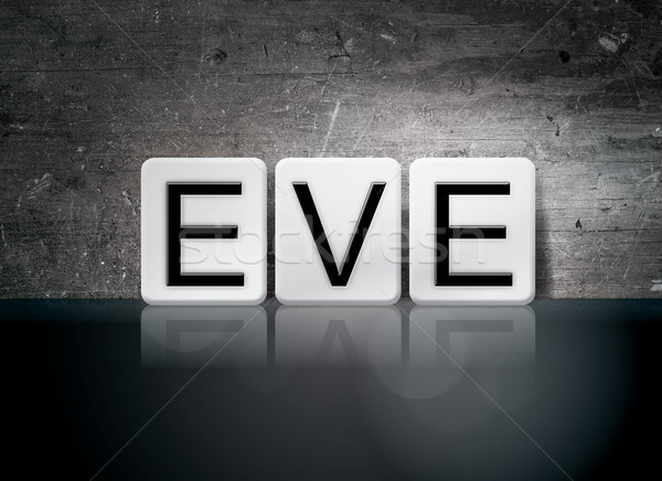 Csempézett szó írott fehér csempék sötét Stock fotó © enterlinedesign