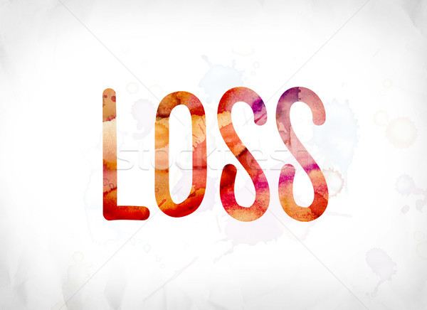 Loss Concept Painted Watercolor Word Art Stock photo © enterlinedesign