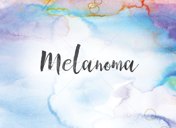 Melanoma Concept Watercolor and Ink Painting Stock photo © enterlinedesign