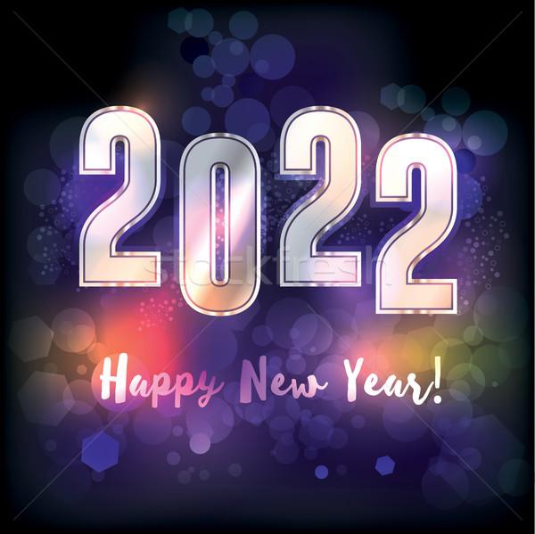 明けましておめでとうございます 実例 新しい 年 メッセージ ベクトル ストックフォト © enterlinedesign