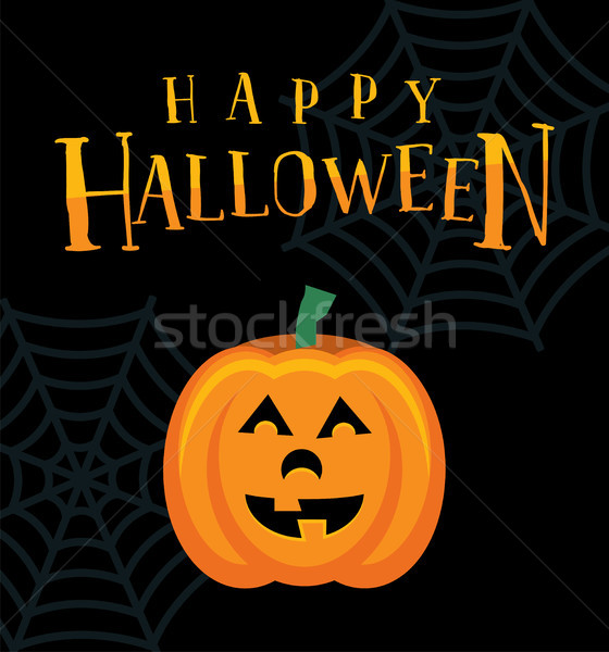 Happy Halloween Pumpkin Jack o Lantern Illustration Stock photo © enterlinedesign
