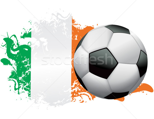 Costa d'Avorio calcio grunge design soccer ball bandiera Foto d'archivio © enterlinedesign