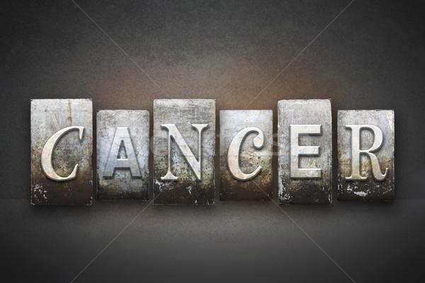 Kanser kelime yazılı bağbozumu tip Stok fotoğraf © enterlinedesign