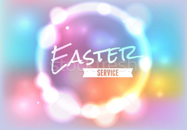 Pasen kerk dienst illustratie vector eps Stockfoto © enterlinedesign