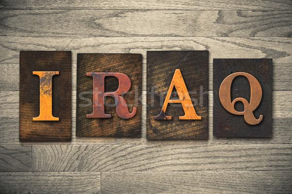 Iraque país escrito vintage Foto stock © enterlinedesign