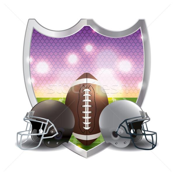 American Football Emblem Illustration Stock photo © enterlinedesign