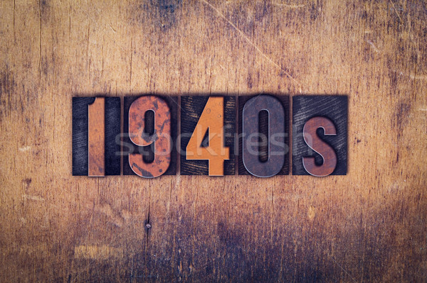 1940s Concept Wooden Letterpress Type Stock photo © enterlinedesign