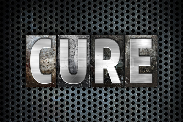 Cure Concept Metal Letterpress Type Stock photo © enterlinedesign
