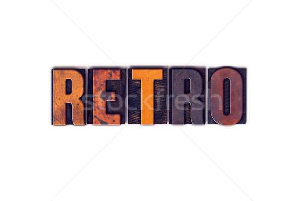 Retro Concept Isolated Letterpress Type Stock photo © enterlinedesign