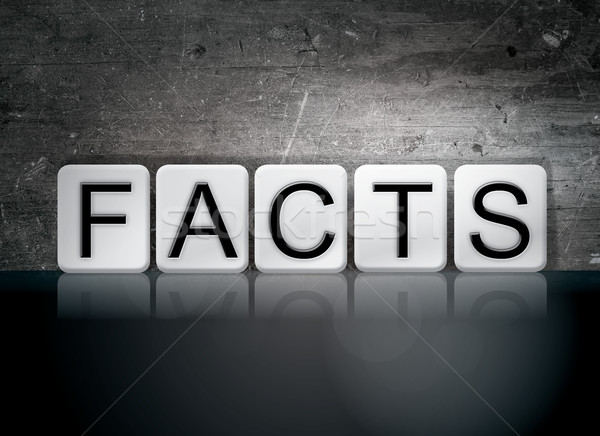 Facts Tiled Letters Concept and Theme Stock photo © enterlinedesign