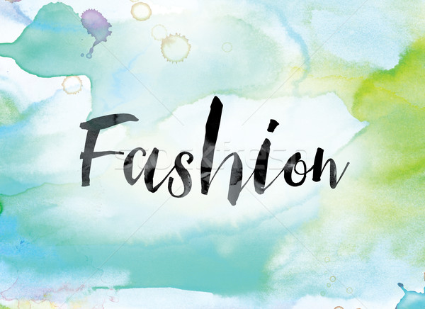 Fashion Colorful Watercolor and Ink Word Art Stock photo © enterlinedesign