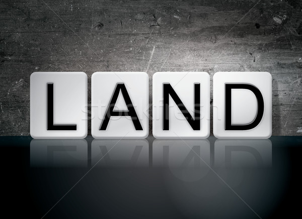Land Tiled Letters Concept and Theme Stock photo © enterlinedesign