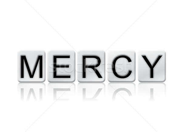 Mercy Isolated Tiled Letters Concept and Theme Stock photo © enterlinedesign