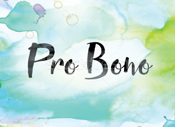 Pro Bono Colorful Watercolor and Ink Word Art Stock photo © enterlinedesign