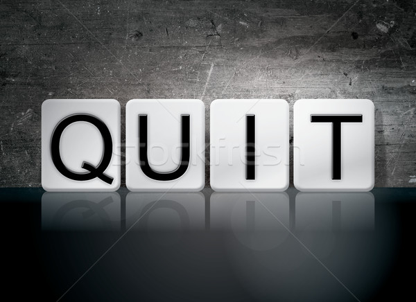 Quit Tiled Letters Concept and Theme Stock photo © enterlinedesign